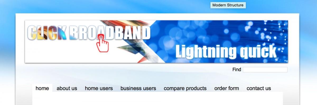 Click Broadband Project by imwebdesigner.com
