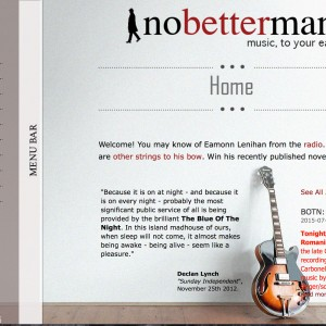Personal Website for NoBetterMan project designed by imwebdesigner.com