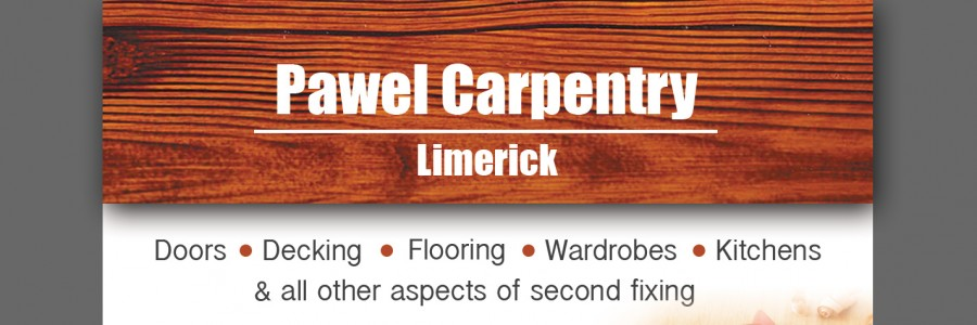 pawel carpentry limerick business card designed by imwebdesigner.com