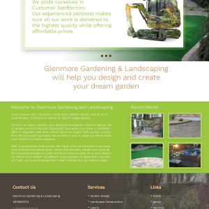 web design proposal for glenmore gardening limerick
